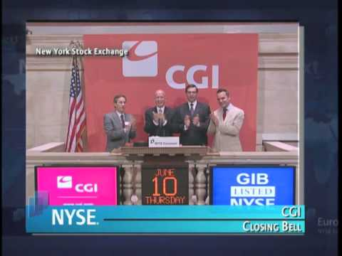 10 June 2010 CGI rings the NYSE Closing Bell