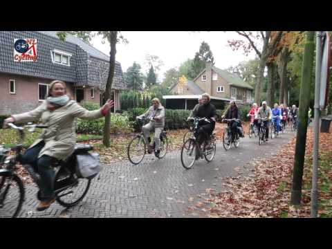 Cycle tour by elderly people in Vught (the Netherlands)