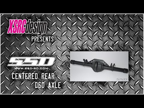 SSD  HD D60 CENTERED REAR AXLE FOR WRAITH / SMT10 / YETI
