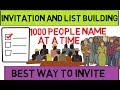 2018 amway invitation in hindi and list building technique