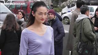 VIDEO Ai Tominaga 冨永 愛 @ Paris 3 march 2019 Fashion Week show Akris