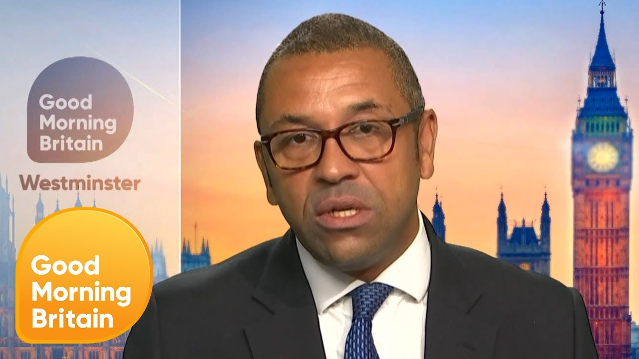 James Cleverly Is Challenged on Boris Johnson's 'Inflammatory' Language | Good Mornin