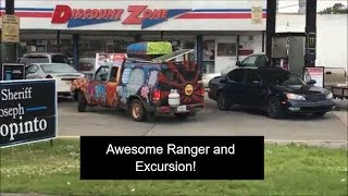 Ford Hippy Ranger & Awesome Excursion - World of difference in their mods..