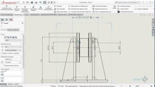 Построение чертежа из 3d модели в Solidworks