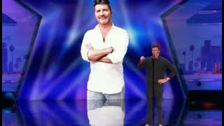 Impressionist Daniel Ferguson Mocks Simon with 'Cake by the Ocean' | America's Got Talent 2017