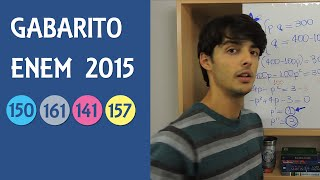 Gabarito e Resolução ENEM 2015 Caderno Azul, Questão 150 | Cinza-161 | Rosa-141 | Amarelo-157