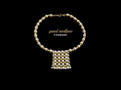 Pearl Necklace with Pendant Tutorial Fashion Jewelry DIY