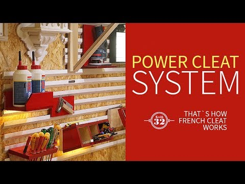 Power Cleat System - the Next Generation of French Cleat wall