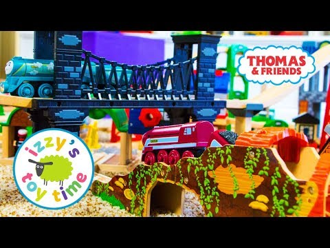 Thomas and Friends   Thomas Train LOG TUNNEL! Fun Toy Trains for Kids   Videos for Children and Brio