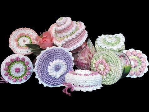 hübsche-gehäkelte-hauben-für-alte-gläser-hÄkeln,-crochet