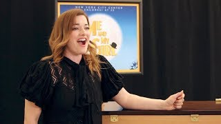 "Laura Michelle Kelly (Sally Smith) rehearses ""Once You Lose Your He..."