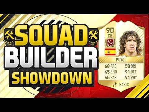 FIFA 17 SQUAD BUILDER SHOWDOWN!!! LEGEND PUYOL!!! Carlos Puyol Squad Duel