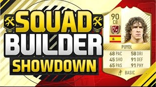 FIFA 17 SQUAD BUILDER SHOWDOWN!!! LEGEND PUYOL!!! Carlos Puyol Squad Duel