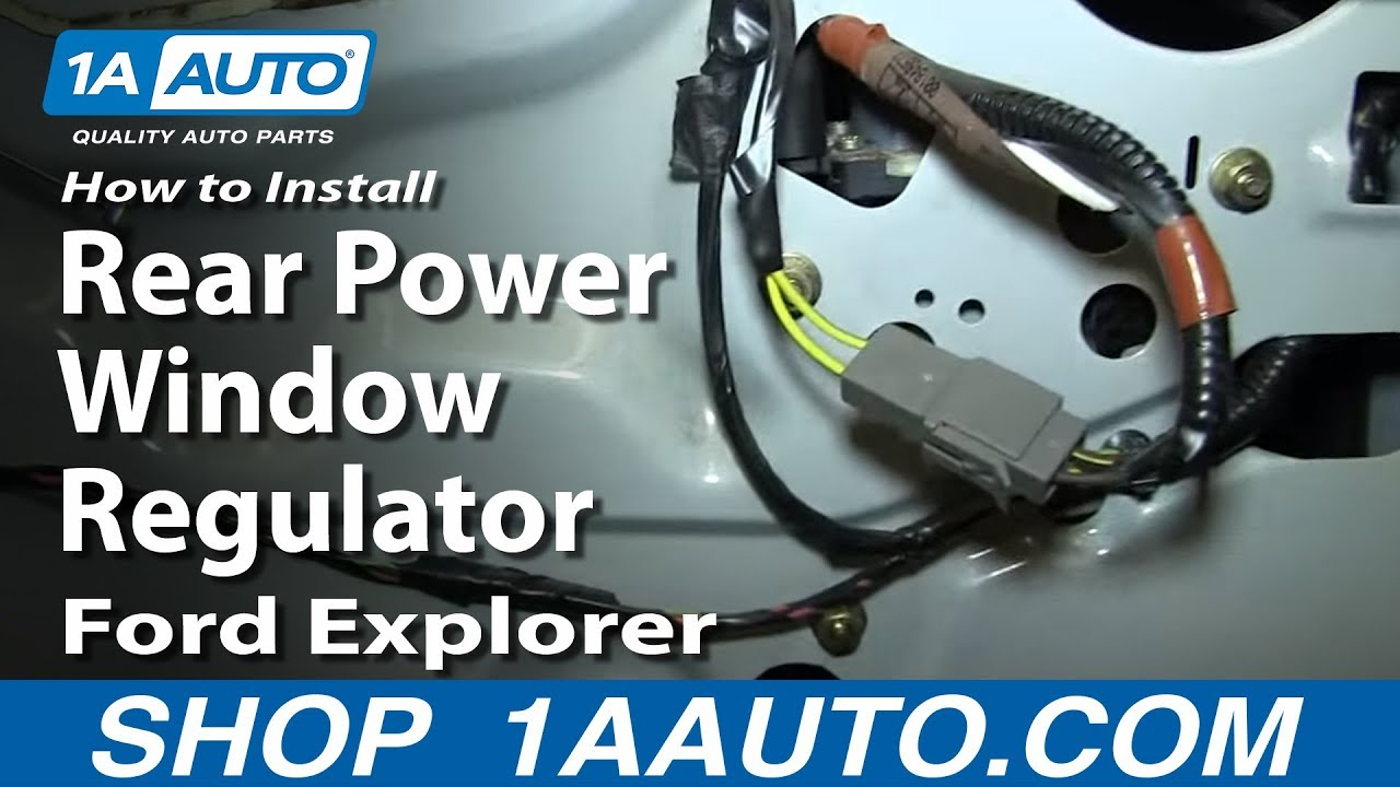 how to install replace rear power window regulator 2002 05 ford explorer mercury mountaineer [ 1280 x 720 Pixel ]