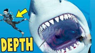 Depth - GIANT SHARK MEGALODON IS EPIC! KILLER WHALE TOO - Depth Gameplay