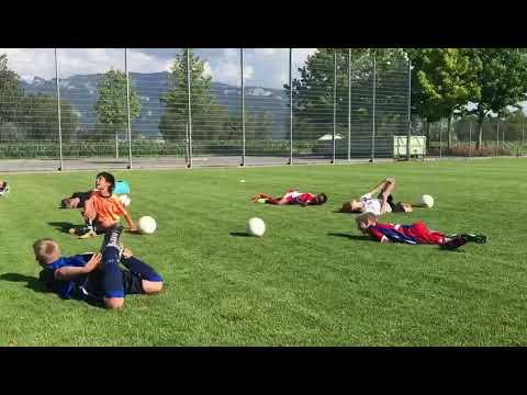"Practicing ""The Neymar"""