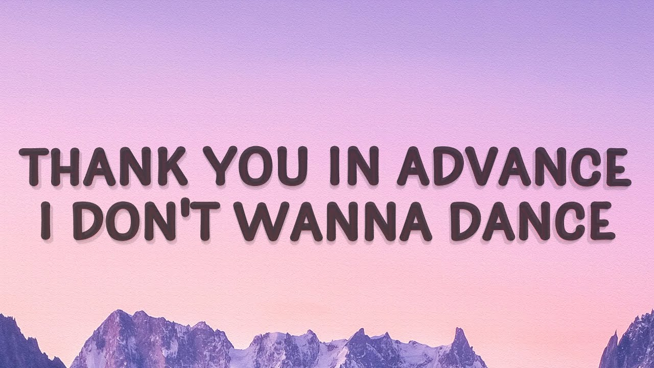 Meghan Trainor - Thank you in advance (NO) (Lyrics)