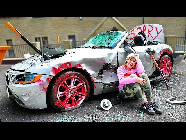 Surprising My Mom With A New Car, Then Destroying It...