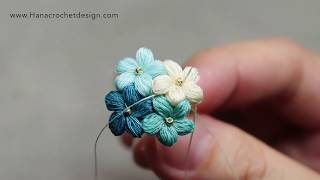 how to micro crochet puff flower