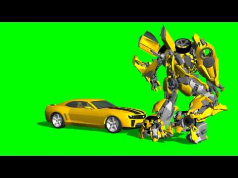 Transformers Bumblebee Green Screen Effects Free Use