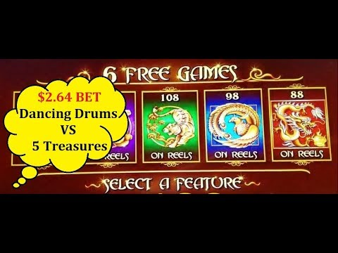 5 Treasures Slot ★big Win ★ Bonus Amp Dancing Drums Slot