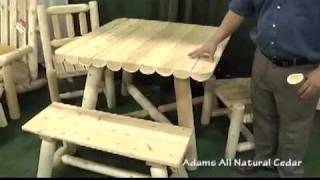 Log Style Rustic Cedar Dining Table