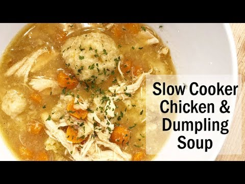 Slow Cooker Chicken And Dumpling Soup Recipe // Vlogmas Day 3!