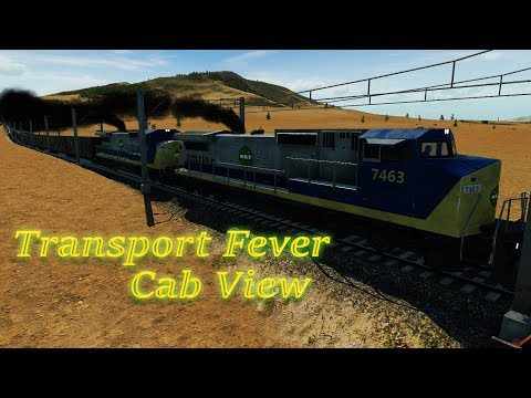 Transport Fever - Cab View / First Person View USA 9 / Cargo 3