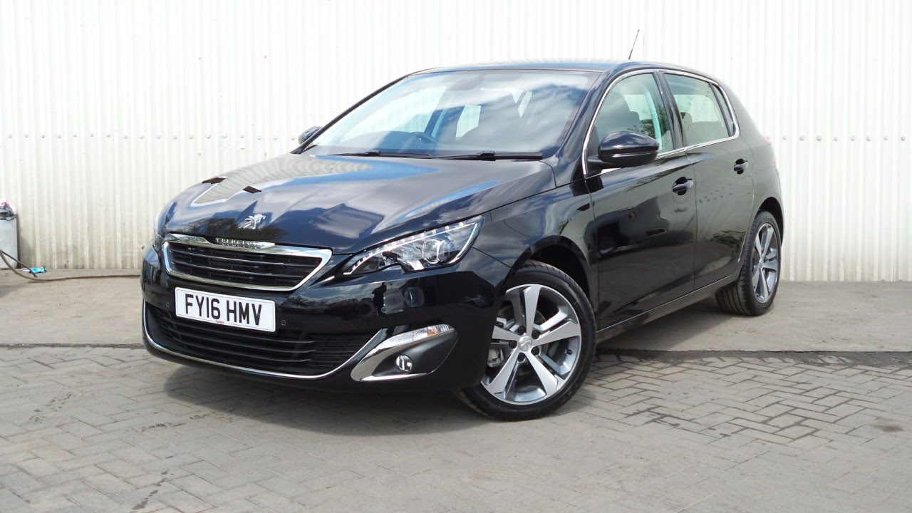 2016 16 peugeot 308 1 2 puretech 130 allure 5dr eat6 auto demo in black youtube. Black Bedroom Furniture Sets. Home Design Ideas