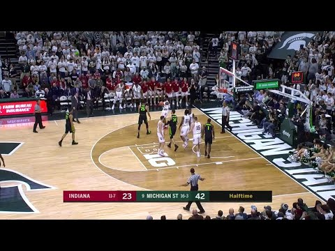 Big Ten Basketball Highlights: Indiana at Michigan State Mp3