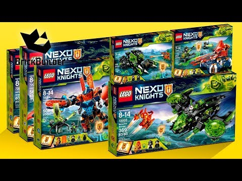 COMPILATION ALL LEGO Nexo Knights 2018 - Speed Build