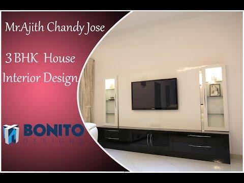 Mr. Ajith Chandy's 3 BHK House   Interior Design   Sobha Habitech   Bangalore