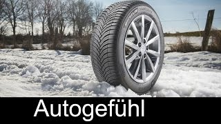 Michelin CrossClimate - driving summer tyres in winter (new all-season tyre technology) - Autogefühl
