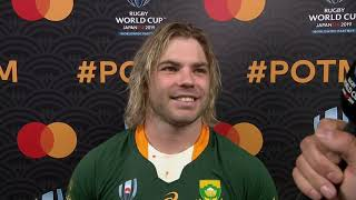 Rugby World Cup | QF | Japan v South Africa | Post-match interview with Faf de Klerk