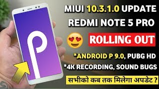 Redmi note 5 pro miui 10.3.1.0 update with android pie   miui 10.3.1.0 for redmi note 5 pro