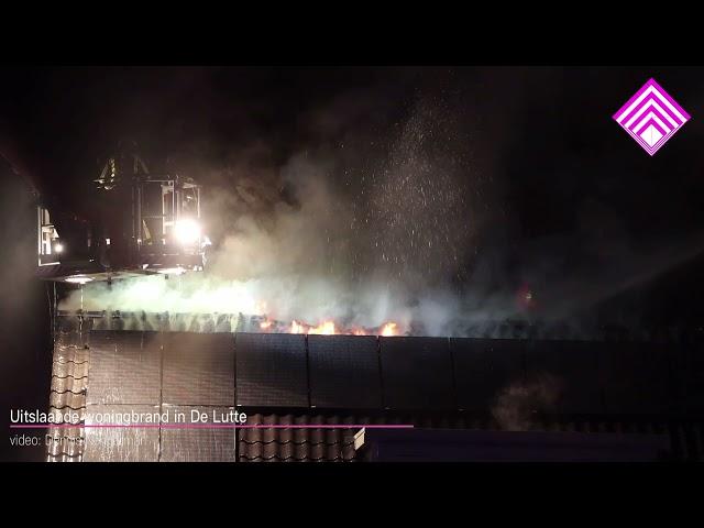 Uitslaande woningbrand in De Lutte