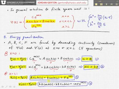 PHYS3740 Lecture26-5 Finite Potential Well
