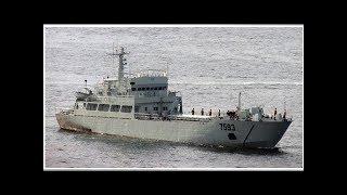 山竹颱風吹斷鋼錨 解放軍艦「南交86」擱淺香港交椅洲 | 新聞雲