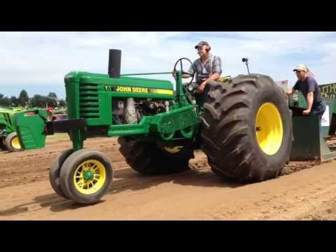 Two Unique John Deere Tractors Pullin' Hard