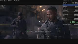Call of Duty: Modern Warfare (2019) Campaign Any% Speedrun 1:52:10.60