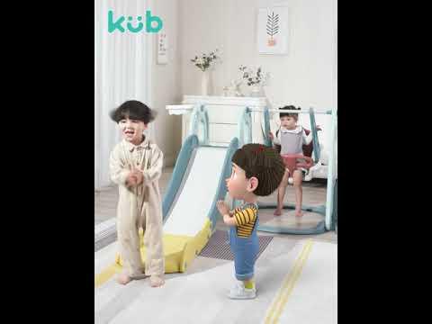 Kub 3-in-1Slide, Swing, and Basketball Set