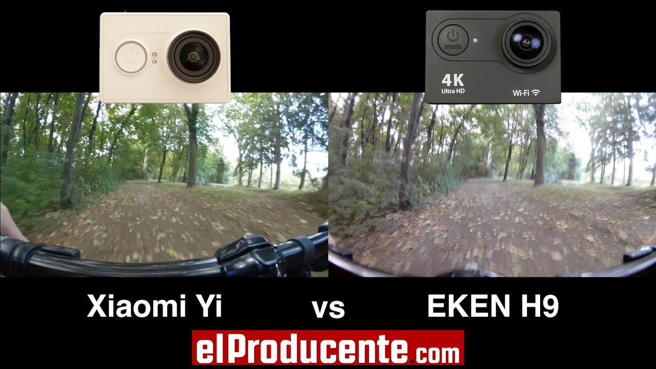 Xiaomi Yi Vs Eken H9 4k Action Camera 1080p 60fps
