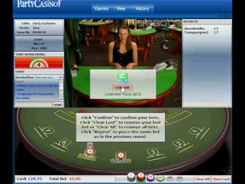 Livedealer.org   Live dealer blackjack at Party Casino