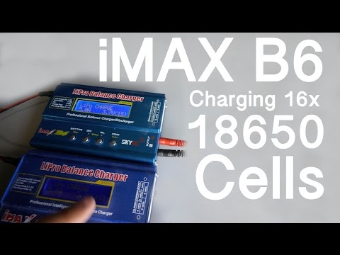 Setting IMAX B6 to charge 16x 18650 cells at once -  Batt Talk #8