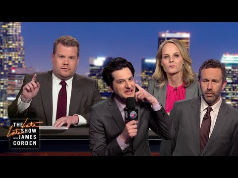 James Corden's Breaking News: Who Bit Beyonce? vs. Helen Hunt, Christ O'Dowd & Ben Schwartz