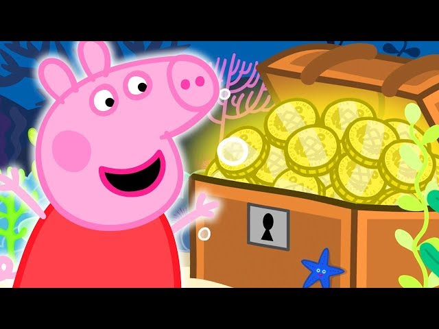Peppa Pig Official Channel | Peppa Pig Finds a Treasure Chest at the Great Barrier Reef