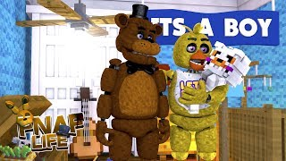 Minecraft FNAF LIFE - FREDDY & CHICA HAVE A BABY BOY - WHAT IS HIS NAME??