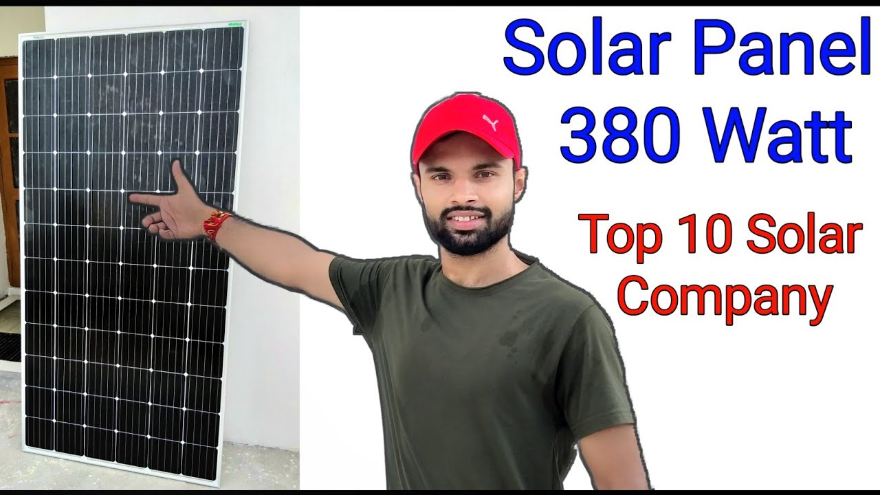 Waaree Solar Panel 380Watt, Mono Crystalline, Solar Panels for home, Top10 Solar Companies, 350Watt,