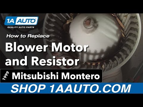 How to Replace Blower Motor and Resistor 92-99 Mitsubishi Montero