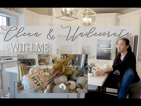 EXTREME CLEANING MOTIVATION || UNDECORATE & CLEAN WITH ME || Getting Ready for Christmas Decor